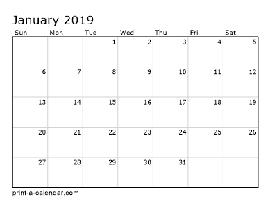 Make your own 2018, 2019, or 2020 printable calendar PDF.