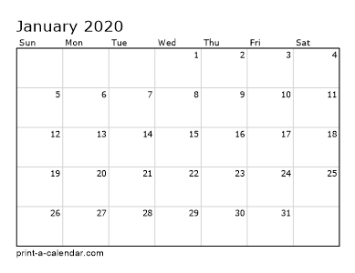 2020 Calendar 2019 Printable.Make Your Own 2018 2019 Or 2020 Printable Calendar Pdf