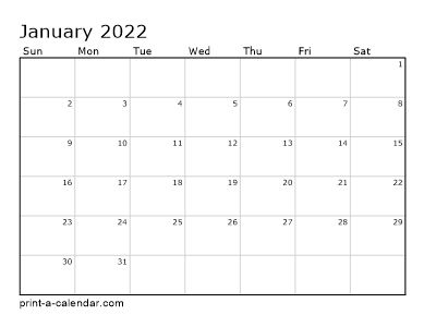 Blank Calendar 2021-2022 Make your own 2021, 2022, or 2023 printable calendar PDF.