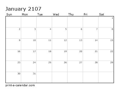 Make your own 2106, 2107, or 2108 printable calendar PDF.