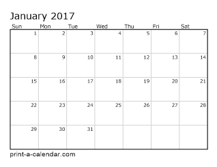 excel calendar 2017