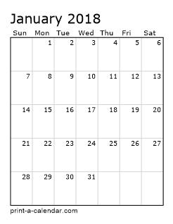 excel calendar 2018