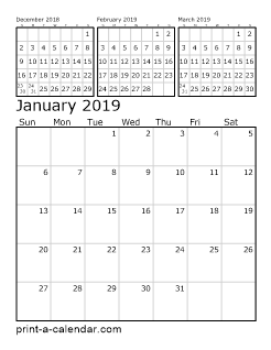 Calendar.Com 2019 Download 2019 Printable Calendars