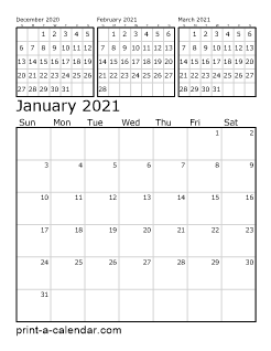 Download 2021 Printable Calendars