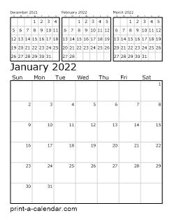 Free Print Calendar 2022.Download 2022 Printable Calendars