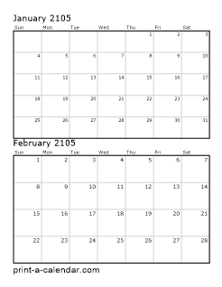 Download 2105 printable calendars for 2104 calendar template