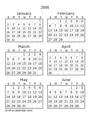 Download 2000 Printable Calendars