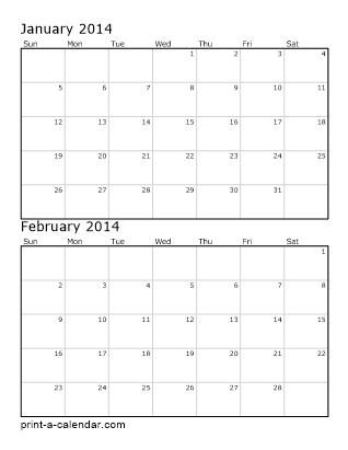 Download 2014 Printable Calendars