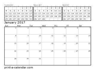 12 month calender