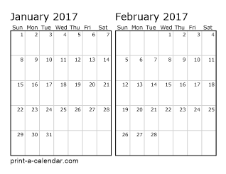 two horizontal months 2017