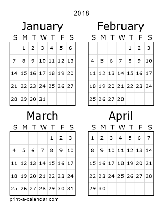 picture relating to 3 Month Printable Calendars identified as Obtain 2018 Printable Calendars
