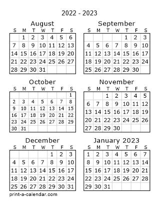 Calendar Months 2022.Next Six Months