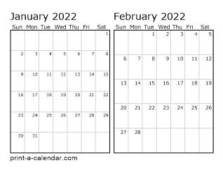 2022 Calendar Months.Download 2022 Printable Calendars