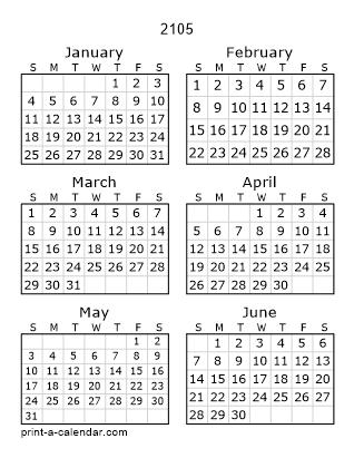 Download 2105 Printable Calendars