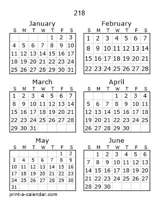 Download 218 Printable Calendars