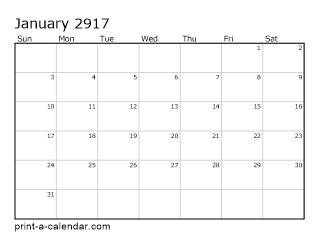 Download 2917 Printable Calendars