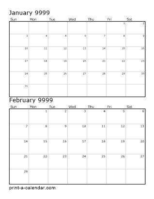 calendar 9999