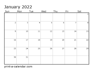 Monthly Calendar 2021 2021 Printable Monthly Calendar